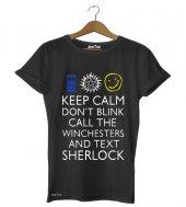 Sherlock Dr Who Supernatural Erkek Tişört - Dyetee