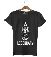 Keep Calm Legendary Erkek Tişört - Dyetee