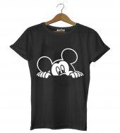 Mickey Hiding Erkek Tişört - Dyetee