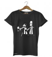 Pulp Simpsons Kadın Tişört Dyetee