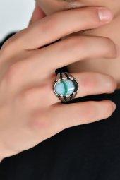 Mızraklı Renk Çümbüşü Gümüş Yüzük Dbse1005
