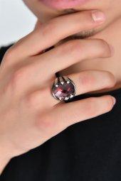Kırmızı Taş Kaplan Pençesi Gümüş Yüzük Dbse1003