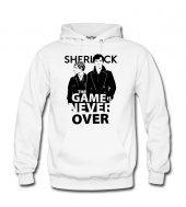 Sherlock Never Over Erkek Sweatshirt ve Kapüşonlu - Dyetee