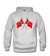 İkili Türk Bayrağı Erkek Sweatshirt ve Kapüşonlu - Dyetee