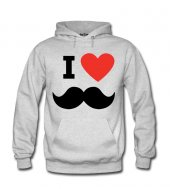 I Love Dad - Mustache Erkek Sweatshirt ve Kapüşonlu - Dyetee
