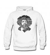 Jimi Hendrix Typo Kadın Sweatshirt ve Kapüşonlu - Dyetee