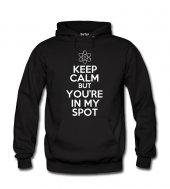 Big Bang Theory Keep Calm Kadın Sweatshirt ve Kapüşonlu - Dyetee