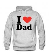 ı Love Dad Kadın Sweatshirt Ve Kapüşonlu Dyetee