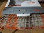 özdilek Vintage Turuncu Scotch Battaniye Tek Kişilik Pamuklu