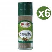 Bağdat Baharat Karabiber 55gr X 6 Adet Tuzluklu Cam (Koli)