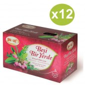 Bağdat Beşi Bir Yerde Çay Süzen Poşet 1,5gr 20li Net 30gr X 12 Adet (Koli)
