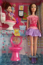 Barbie Bebek Tuvaletli Baby Sister Bonnie Pink