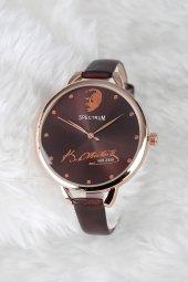 Atatürk Tasarım Kahverengi İç Dizayn Kadın Kol Saati