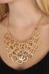 Gold Renk Metal Bayan Yaka Kolye