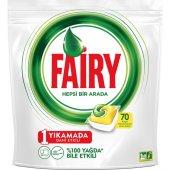 Fairy Hepsi Bir Arada 70 Yıkama Bulaşık Makinesi Deterjanı Kapsülü Limon Kokulu