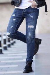 Madmext Slim Fit Lacivert Jean 021