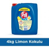 Pril Sıvı Bulaşık Deterjanı 3 Lü Güç Limon 4 Kg