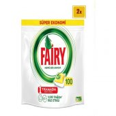 Fairy Hepsi Bir Arada 100 Yk Bulaşık Makinesi Deterjanı Kapsülü Limon Kokulu (X2)