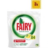 Fairy Hepsi Bir Arada Bulaşık Makinesi Deterjanı Kapsülü Limon Kokulu 84 Yıkama 3lü Set