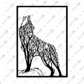 Uluyan Ağaçlar Dekoratif Lazer Kesim Metal Tablo 65x91