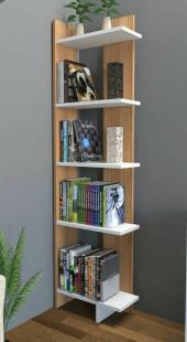 4 Raflı Modern Tasarım Kitaplık, Dekoratif...