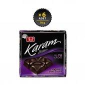 Eti Karam 70 Kakaolu Bitter Çikolata 6 X 70 Gr