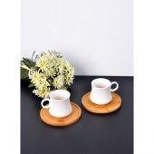 Paçi � Bambulu Porselen 2li � Kahve Fi �ncani 101096