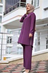 9051 K15 Tunik Pantolon Takım Lila