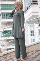 9051 K15 Tunik Pantolon Takım Çağla