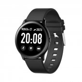 Olix K19 Ultra İnce Smart Watch Akıllı Saat Suya Dayanıklı Nabız Ölçer Siyah