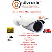 Ahd Full Hd 1080p 3.6mm Lens 42 Led Gece Görüşlü Dış Mekan Kamera