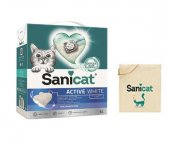 Sanicat Active White Ultra Topaklanan Kedi Kumu 6lt+ Çanta Hediye