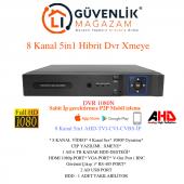 Dvr 08 Xmeye 8 Kanal 2mp 1080n Ahd Tvı Cvı Ip Analog (Hıbrıt) Kayıt Cihazı