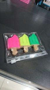 Mini Dondurma Fosforlu Kalem 3'lü