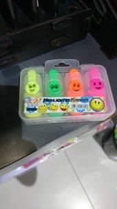 Emoji Mini Fosforlu Kalem 4'lü