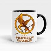 Hunger Games Baskılı İçi ve Kulpu Siyah Renkli Kupa