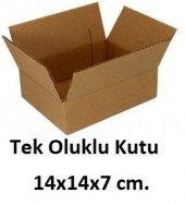 100 Adet 14x14x7 Cm. Karton Kutu