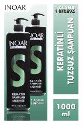Inoar Keratin Tuzsuz Şampuan Sülfatsız Parabensiz (1000ml+1000ml)