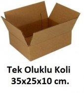 50 Adet 35x25x10 Cm. Karton Koli