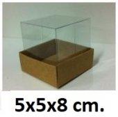 50 Adet Asetat Kapaklı Karton Kutu 5x5x8 Cm.