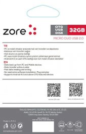 Zore OM1 Micro Metal OTG 32 GB-2