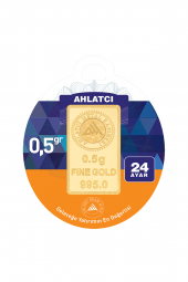 Gram Altın 24 Ayar 0.5 Gram Külçe Altın