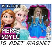 Kişiye Özel Elsa Frozen Doğum Günü Afişli Parti Malzemeleri-3