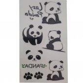 Minimal Panda Geçici Dövme Seti, Sticker Sevimli Panda Tattoo