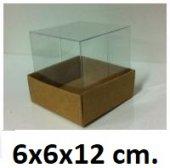 50 Adet Asetat Kapaklı Karton Kutu 6x6x12 Cm.