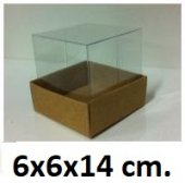 50 Adet Asetat Kapaklı Karton Kutu 6x6x14 Cm.