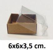 50 Adet Asetat Kapaklı Karton Kutu 6x6x3,5 Cm.