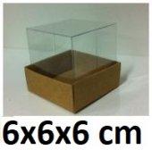 50 Adet Asetat Kapaklı Karton Kutu 6x6x6 Cm.
