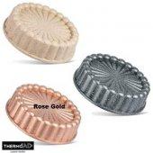 Thermoad Alüminyum Döküm Granit Turta Tart Kalıbı 26cm Gri Vizon Rose Gold
