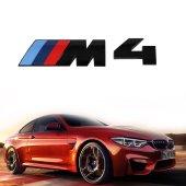 Bmw M4 Mat Siyah 3d Logo Yazı Orijinal...